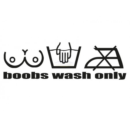 boobs wash only Fun sticker