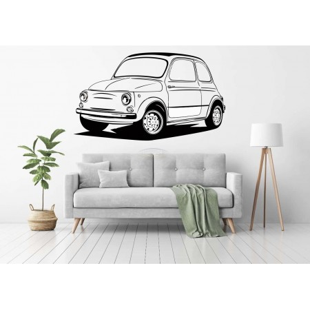 old Fiat 500 wall décor