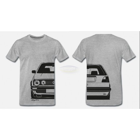 VW MK2 GTI T-Shirt Front & Back