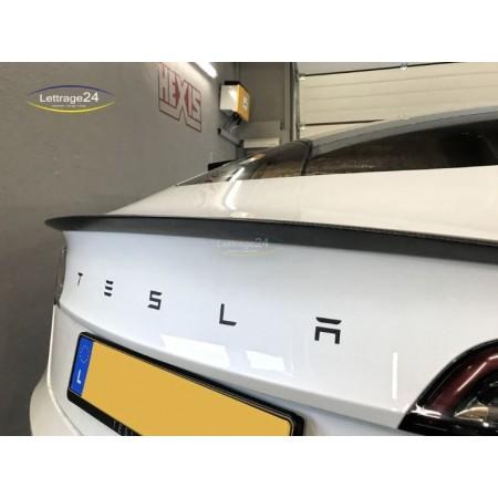 Tesla model 3 back emblem