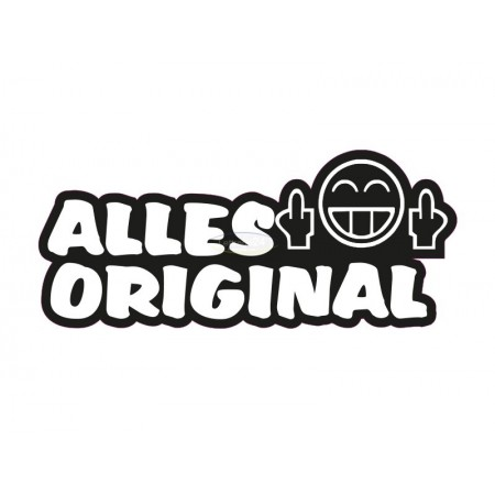 Alles original sticker