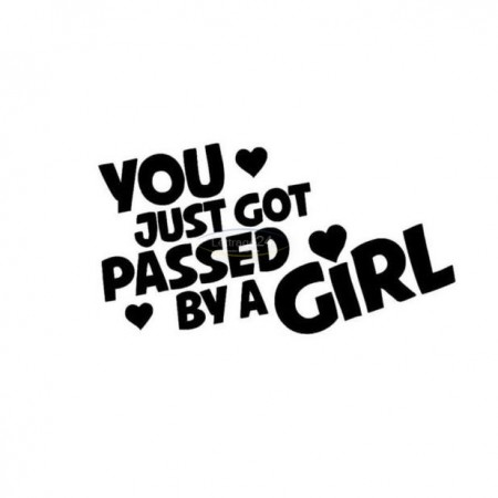 Passed by a Girl sticker